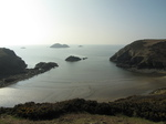SX17721 St Elvis and Black Rocks from top of hill Solva Harbour mouth.jpg