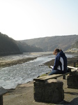 SX17726 Jenni reading at Solva Harbour.jpg