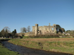SX17748 Laugharne castle and river Coran.jpg