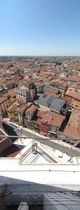 SX19185-9 Panorama view down from Lamberti Tower towards Arena, Verona, Italy.jpg