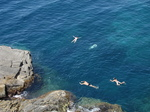 SX19547 People swimming by Cinque Terre Coastpath, Italy.jpg