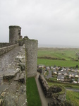 SX20477 Harlech Castle view from ramparts to beach.jpg