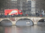 SX21589 Pedelo underneath bridge with Beer delivery lorry.jpg