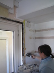 20120512 Plastering the kitchen