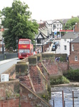 SX23061 Double decker going over Old Dee Bridge in Chester.jpg