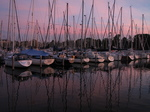 SX24535 Sunset over sailboats in marina at Brouwershaven.jpg