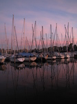 SX24538 Sunset over sailboats in marina at Brouwershaven.jpg