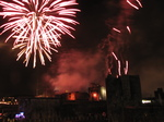 SX25028 Red fireworks over Caerphilly castle.jpg