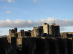 SX25677 Towers of Caerphilly Castle in the sun.jpg