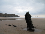 SX26325 Ship wreck on Rhossilli beach.jpg