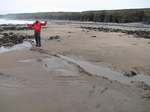 SX33196 Building dams on Llantwit Major beach.jpg