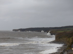 LZ00617 Waves crashing against cliffs at Llantwit Major beach.jpg