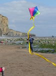 20140419 Flying a kite on Llantwit Major beach