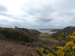 FZ012387 Pennard Castle Three Cliffs Bay.jpg
