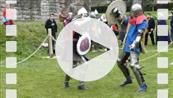 FZ012905 Knights fighting at Glastonbury Abbey.mp4
