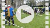 FZ012926 Knights team fight at Glastonbury Abbey.mp4