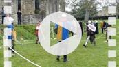 FZ012927 Final knights team fight at Glastonbury Abbey.mp4