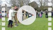 FZ012947 Archers at Glastonbury Abbey.mp4