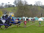 FZ013173 Black and blue knights jousting.jpg
