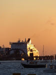 FZ019487 Stena Line ferry in sunset.jpg