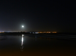 FZ025063 Moon reflected on sand at Coney beach, Porthcawl.jpg