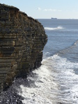 FZ026047 Waves by Llantwit Major cliffs.jpg