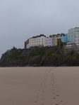FZ026117 Footprints to colourful houses in Tenby.jpg