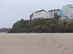 FZ026120 Footprints from colourful houses in Tenby.jpg