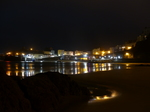 FZ026184 Reflection of Tenby lights in beach.jpg