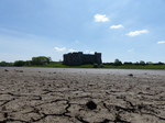 FZ029387 Carew Castle from mud of tidal river.jpg