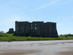 FZ029547 Carew castle from river's mud flats.jpg