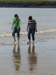 FZ030516 Jenni and Libby walking down Barry beach.jpg